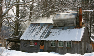 : Dutton's Sugarhouse in Manchester gets ready for the sugaring season. Photo: VermontVacation.com/Stephen Goodhue.