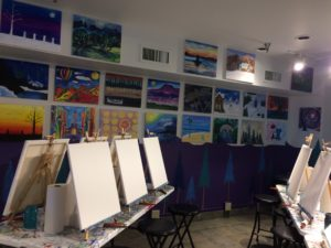 Photo courtesy of Karen Sturtevant The studio stands ready for in-coming painters.