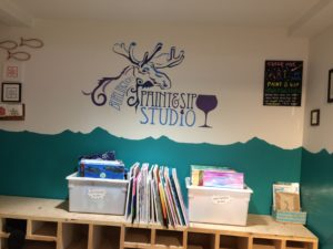 Burlington Paint & Sip (above) on Church Street is a colorful, bright studio offering step-by-step painting instruction.