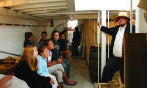 """Lake Champlain Maritime Museum employee Len Ruth describes life on the 'floating museum"""" Lois McClure.(Contributed photo)"""