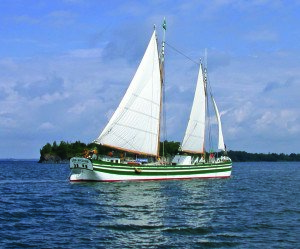The Lois McClure sets sail. Next year, the schooner will embark on a tour commemorating the bicentennial of the start of construction on the Erie Canal.(Contributed photo)