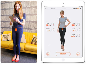 Fashion meets high tech function. Find jeans that fit with smart leggings outfitted with sensors that send your measurements to an app via Bluetooth. www.likeaglove.me.