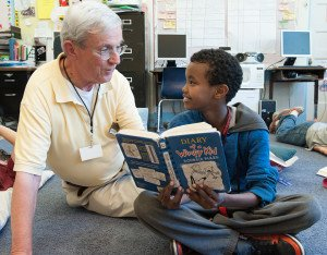 The United Way's Foster  Grandparent program places volunteers in preschool, elementary school and middle school classrooms.  (Contributed photo)